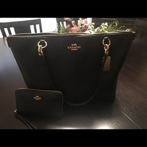 Authentic Coach Bag and Wristlet Wallet